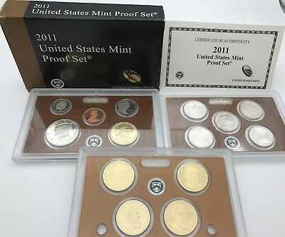 United States 2011 Mint Proof 14 coins Quarters & Presidents set USA KMS