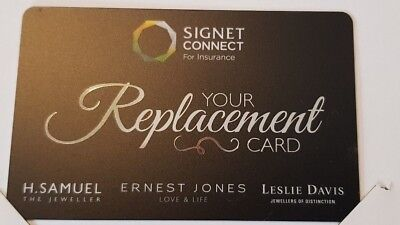 Signet Card / Voucher - £1535 Value - Ernest Jones - Breitling - TAG - Omega