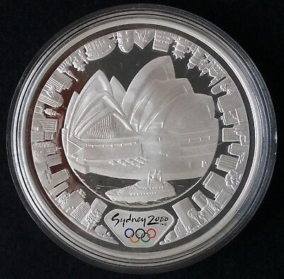 2000 Australia Sydney Olympic Collection ( 99.9% ) $5 Coin Harbour of Life Land