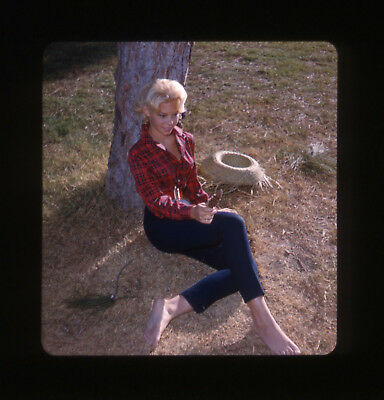 Rare Original Vintage (1950s) 3-D Stereo Realist Slide of Pinup by George Mann