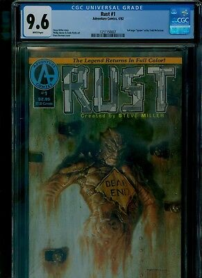 Rust 1 CGC 9.6 NM+ Full page Spawn ad by Todd McFarlane Adventure Comics 1992