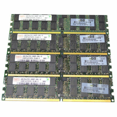 Memory Ram 4 Server DDR2 PC2 5300P 667MHz 240pins RDIMM ECC Registered 2x GB Lot