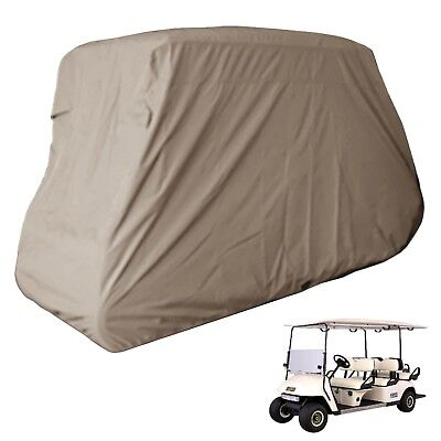 Deluxe 6 Passengers Golf Cart Cover fits E Z GO, Club Car, Yamaha model in Taupe