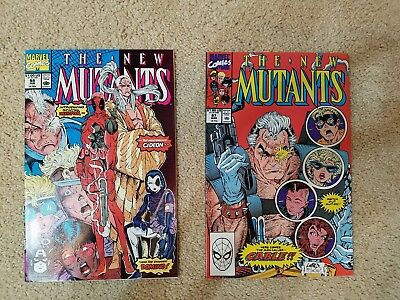 New Mutants 1-100, 87 and 98 incl. 1st Appearance Cable and Deadpool High Grade