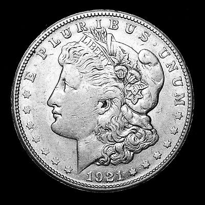 1921 S ~**ABOUT UNCIRCULATED AU**~ Silver Morgan Dollar Rare US Old Coin! #539