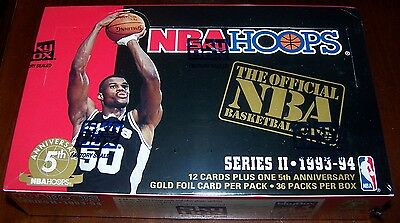 1993/94 Hoops by Skybox NBA Basketball 36-Pack Series 2 Box Brand New & Sealed