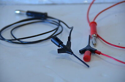 Pomona 5790 test clip and 4771 test lead - 1 Red Set and 1 Black Set