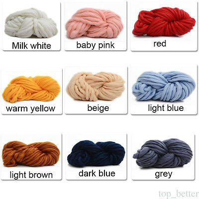 100% Super Soft Chunky Merino Yarn Giant Wool Extreme Knitting 20 Colour