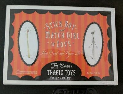 Tim Burton's Stick Boy and Match Girl Note Cards and Figures Set Limited Edition
