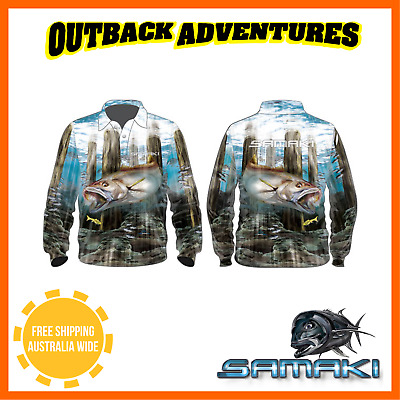 Samaki Mighty Mulloway Long Sleeve Fishing Shirt - Childrens Kid Size - 6