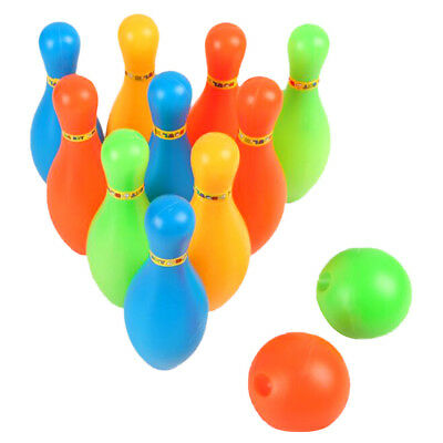 Children Bowling Set 10 Pins 2 Bowling Ball Indoor Sport Home Play Game Toys