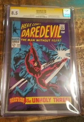 Daredevil #39 CGC 8.5 VF+ SIGNED by STAN LEE!!! Signature Series!