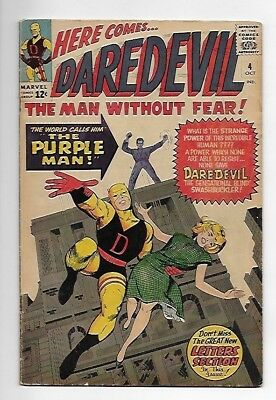 Daredevil #4 1964 5.0 VG/FN 1st Appearance of the Purple Man