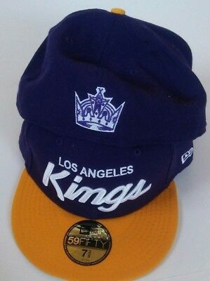 c3f3c19c LOS ANGELES KINGS New Era 59FIFTY/fitted/Hat/Cap/NHL/Lakers colors ...