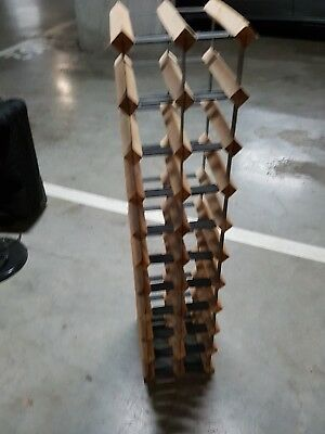 Timber Wine Rack Wooden Storage Organiser Stand