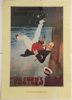 Fosters Lager Centenary 1888-1988 Poster