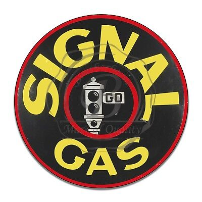 Vintage Design Sign Metal Decor Gas and Oil Sign - Signal Gasoline and Motor Oil