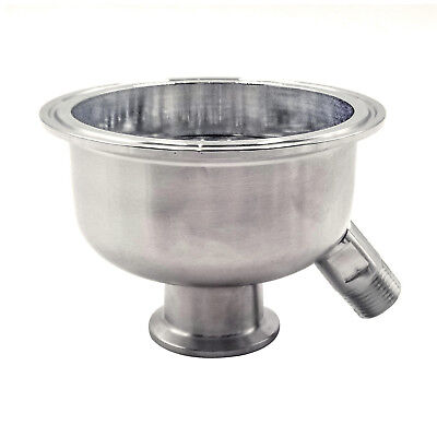 "HFS 304 Stainless Steel Sanitary Reducer 6"" to 1.5"" w 6mm Holes Filter (w/male)"