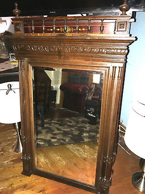 Antique Wooden Large Mirror