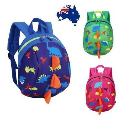 AU!Toddler Kid Backpack Anti-lost Band Kids Children Bag Kindergarten School Bag