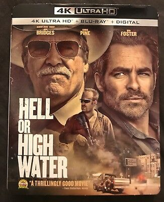 Hell Or High Water 4K Ultra Hd Blu Ray 2 Disc Set + Slipcover Sleeve Free Shipin