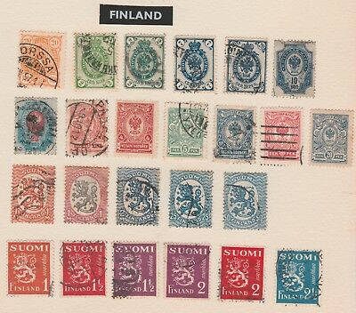 FINLAND Collection Transport, Sports, Geese, etc, as per scan USED #