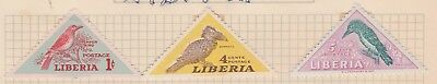 LIBERIA Collection Birds on Old Book Pages, as per scan MH #