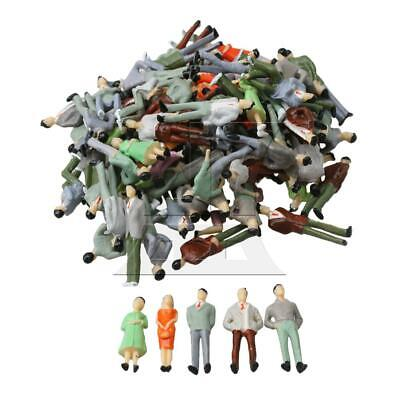 1:50 Painted Model People Figures Set of 100 Multi Color