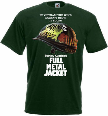 FULL METAL JACKET Movie Poster T shirt Green all sizes