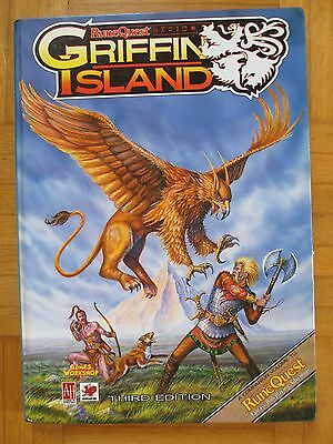RuneQuest – GRIFFIN ISLAND + Large Map – Englisch Hardcover – RQ GW AH Avalon