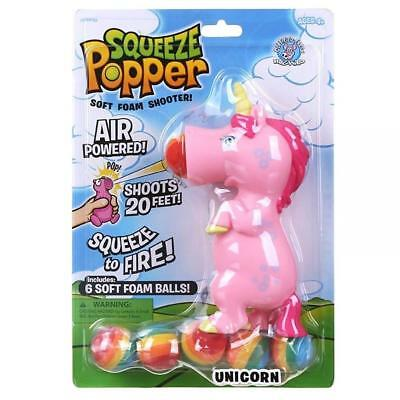 Squeeze Popper UNICORN Squeezable Toy Ball Shooter Stress Reliever Fun