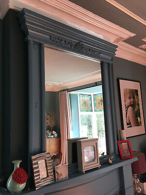 huge ornate antique overmantel, fireplace mirror. Absolutely stunning and rare.