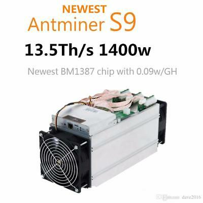 In Hand Now Bitmain Antminer S9 13.5 TH/s including PSU - Bitcoin Miner