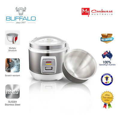 Buffalo Enco 2.0 Stainless Steel Rice Cooker (1~6 cups) - SALE