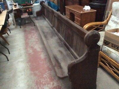 Antique Original Church Pew. Long Bench Seating. Religious Furniture. Rustic