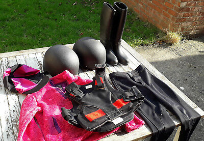 Horse riding bundle child age 9 hard hats boots body protector