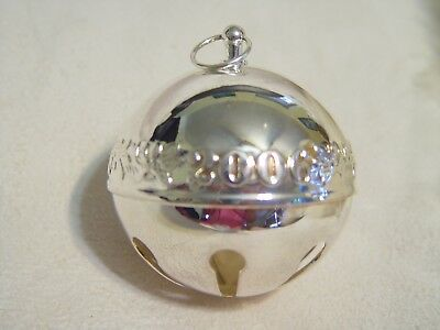 Wallace Silver Plated Sleigh Bell 2006 Doves of Peace no box
