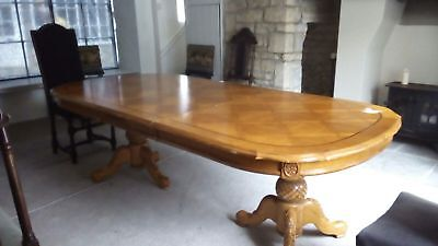 vintage extendable dinning table wined out mechanical leaf action pedal stool