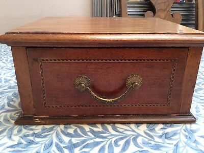 Old Wooden Box With Drawer