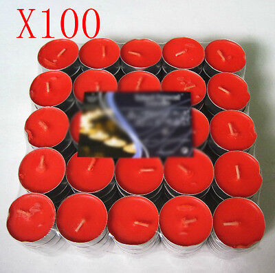 !1 X100 Wedding Party Red Smoke-Free Scented Candles Wholesale Lots 100 PCS