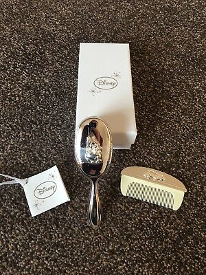 Disney Silver Baby Comb And Brush Set
