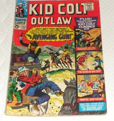 Kid Colt Outlaw 132# The Avenging Gun 4 Great Golden Age Stories !