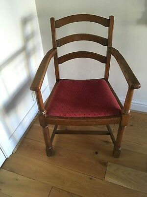 Arts And Crafts Oak Armchair