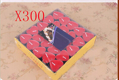 300X Wedding Party Romantic Heart-shaped Red Candles Wholesale Lots 300 PCS