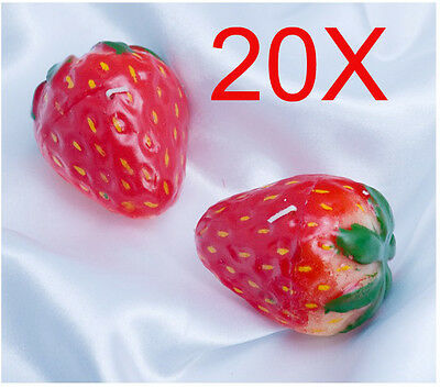 Christmas Strawberries-Shaped Smoke-Free Scented Candles Wholesale Lots 20 PCS