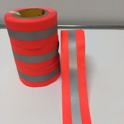 "Reflective Tape Orange/silver & Lime/silver Sew-On 1.5"" X 10 Yards (30 Ft)"