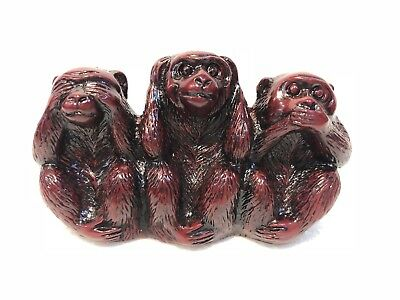 Plastic See Speak Hear No Evil 3 Monkey Statues