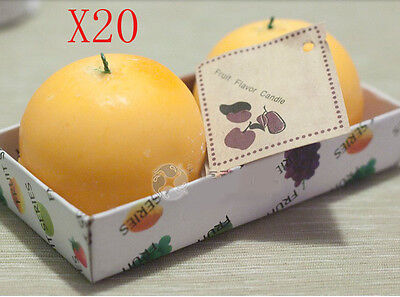 Christmas Oranges-Shaped Smoke-Free Scented Candles Wholesale Lots 20 PCS