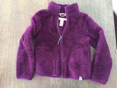 Girls Fleece Zip Up Coat H&M Size 8-10