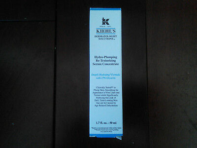 Brand New Kiehl's Hydro Pumping Re-texturizing Serum Concentrate 50ml